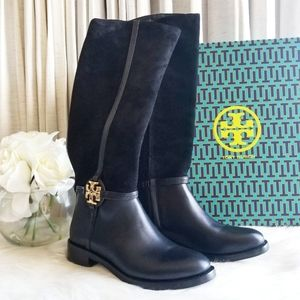 Tory Burch 25mm Miller Suede Leather Boot